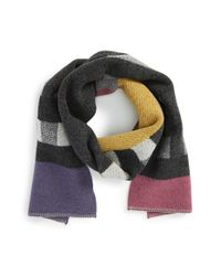Burberry Multicolor Check Wool & Cashmere Blanket Scarf