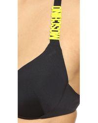 Moschino Black Bikini Top