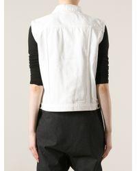 Proenza Schouler White Sleeveless Denim Jacket