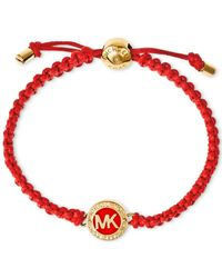 Michael Kors | Red Macramé Logo Bracelet - Macy'S Exclusive | Lyst