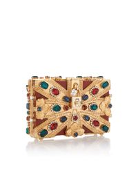 Dolce & Gabbana Blue Crystal-embellished 'union Jack' Clutch