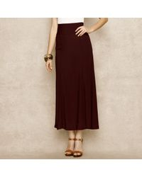 Ralph Lauren Blue Label | Red High-waisted Crepe Maxi-skirt | Lyst