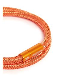 Tateossian | Orange 'soho' Woven Copper Double Wrap Bracelet for Men | Lyst
