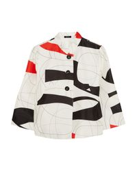 Raoul | White Printed Cotton and Silk-Blend Jacket | Lyst