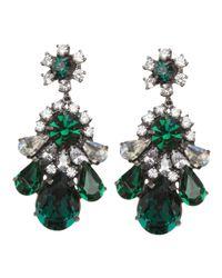 Shourouk | Green Crystal Earring | Lyst