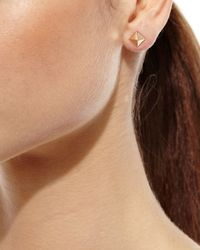 Anita Ko - Metallic 18k Rose Gold Pyramid Stud Earrings - Lyst
