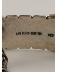 Ann Demeulemeester - Metallic Multiple Chains Bracelet for Men - Lyst