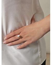 Melanie Georgacopoulos | White Pearl Yellow Gold Tasaki Ring | Lyst