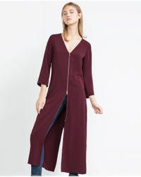 Zara | Purple Midi Dress | Lyst