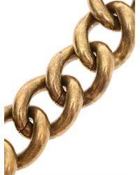 Lanvin Metallic Mira Large Heart Necklace