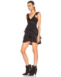 Étoile Isabel Marant Black Casey Cotton-blend Voile Vintage Dress