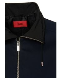 HUGO Blue Regular Fit Cotton Jacket: 'agidius' for men
