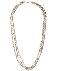 DIESEL | Metallic Multi Chain Necklace for Men | Lyst