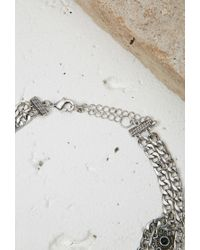 Forever 21 Metallic Etched Chain Choker