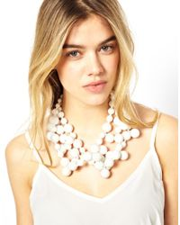 Kenneth Jay Lane - White Multi Bead Necklace - Lyst