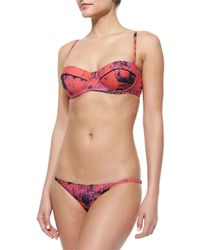 Proenza Schouler - Purple Printed Underwire Swim Top - Lyst