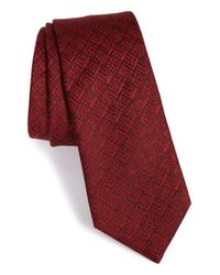 Lanvin | Red Jacquard Silk Tie for Men | Lyst