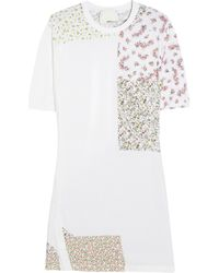 3.1 Phillip Lim   White Printed Silk Crepe De Chine Tshirt Dress   Lyst