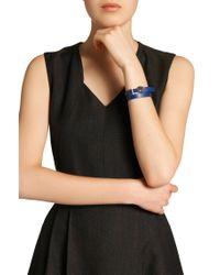 BOSS - Blue Leather Bracelet: 'berlin Bracelet' - Lyst