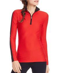 Lauren by Ralph Lauren Red Stretch-mesh Pullover