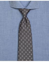 Brooks Brothers - Gray Framed Square And Dot Tie for Men - Lyst