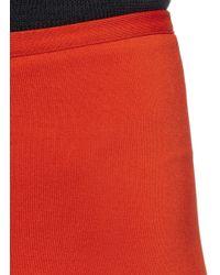 Alaïa Red Stretch Knit Leggings