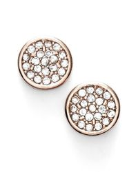 Anne Klein | Metallic Pave Stud Earrings | Lyst