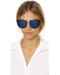 Matthew Williamson | Purple Mirrored Sunglasses | Lyst