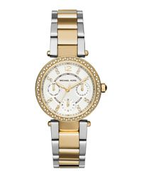 Michael Kors | Metallic 33mm Mini Parker Glitz Bracelet Watch | Lyst