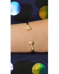Samantha Wills Metallic Skull Cuff Bracelet Gold