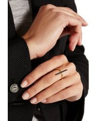 Ileana Makri - Metallic Reversible 18-Karat Gold Diamond Ring - Lyst