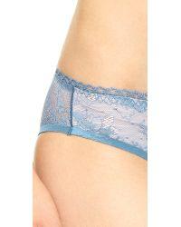 Stella McCartney Blue Stella Lace Bikini Briefs - Burgundy/Peony