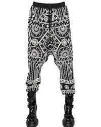 KTZ Black Printed Cotton Jogging Trousers for men