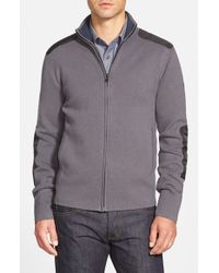 Victorinox Gray 'karl' Full Zip Cardigan for men