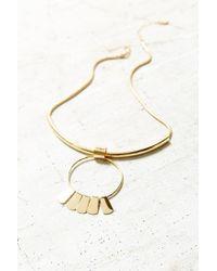 Urban Outfitters Metallic Rae Sun Drop Choker Necklace