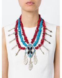 KTZ Blue Oversized Necklace