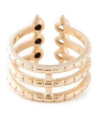 AIMEE AIMER | Metallic 'folles' Triple Ring | Lyst
