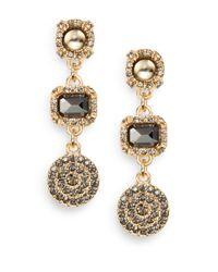 Saks Fifth Avenue - Metallic Triple Medallion Drop Earrings - Lyst