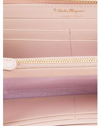 Ferragamo - Pink 'Vara' Bow Wallet - Lyst