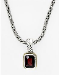 Lord & Taylor | Red Balissima Sterling Silver With 18k Yellow Gold Garnet Pendant | Lyst