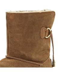 River Island - Brown Suede Faux Fur Lined Ankle Boots - Lyst