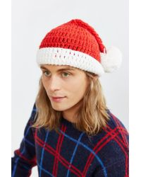 Urban Outfitters | Red Christmas Slouchy Beanie for Men | Lyst