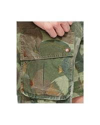 Polo Ralph Lauren - Green Relaxed-fit Embroidered Camo Short for Men - Lyst