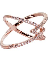 Carat* | Pink Orion Millennium Rose Gold Finish Ring | Lyst