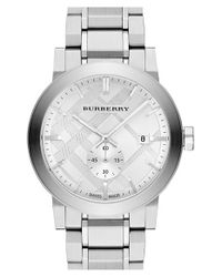 Burberry - Metallic 'new Classic' Check Stamped Bracelet Watch for Men - Lyst
