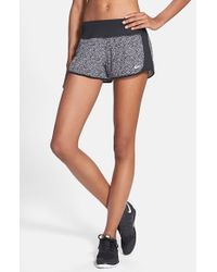 Nike - Black 'crew' Print Dri-fit Shorts - Lyst