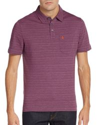 Original Penguin | Purple Heathered Stripe Polo for Men | Lyst