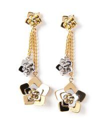 Fendi | Metallic Floral Detail Earrings | Lyst