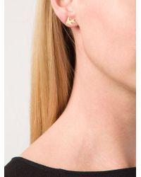 Marie-hélène De Taillac Metallic Swallow Earrings