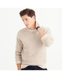 J.Crew Natural Wallace & Barnes Wool Contrast Trim Sweater for men